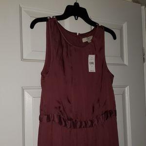 NWT loft eggplant dress
